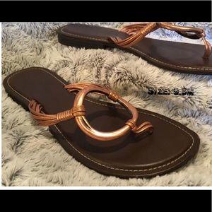 Copper Strap Flip-Flops